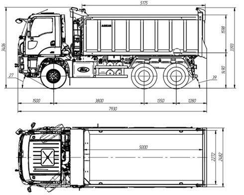 Самосвал Ford Cargo 3542D